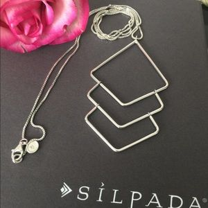 Silpada Diamondback Sterling Silver Necklace